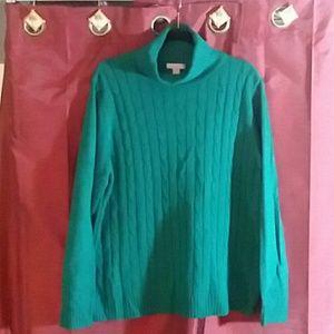 Emerald green sweater. XXL plus size